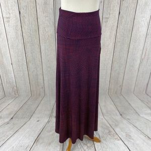 LuLaRoe Size S A-Line Yoga Waistband Maxi Skirt